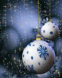 De ballen van Kerstmis van de sneeuwvlok Stock Afbeelding