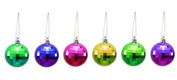 De ballen van Kerstmis van diverse kleuren Royalty-vrije Stock Foto's