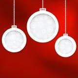 De ballen van Kerstmis van het document. + EPS8 Stock Fotografie