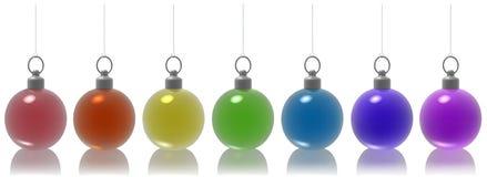 De Ballen van Kerstmis van het glas Stock Foto's