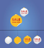 De ballen van Kerstmis - verkoopsticker Royalty-vrije Stock Fotografie