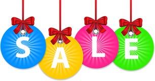 De ballen van Kerstmis voor verkoop Stock Afbeelding