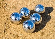 De ballen van Petanque Royalty-vrije Stock Foto
