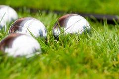 De ballen van Petanque Royalty-vrije Stock Afbeelding