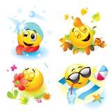 De ballen van Smiley Stock Afbeelding