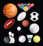 De ballen van sporten Royalty-vrije Stock Afbeelding