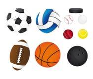 De ballen van sporten Stock Fotografie