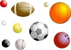 De Ballen van sporten Royalty-vrije Stock Foto