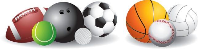 De Ballen van sporten Stock Afbeeldingen