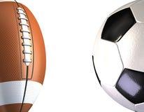 De ballen van sporten op een witte achtergrond Stock Foto's
