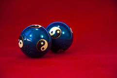 De Ballen van Yin en van Yang Baoding Royalty-vrije Stock Afbeeldingen