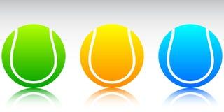 De ballen vectorillustratie van het tennis Stock Foto's