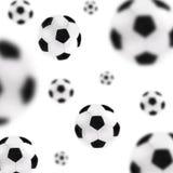 De ballenachtergrond van het voetbal Stock Afbeeldingen