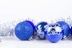 De ballenachtergrond van Kerstmis Stock Foto's