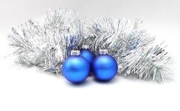 De ballenblauw van Kerstmis Royalty-vrije Stock Afbeeldingen