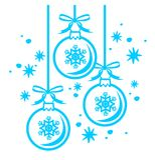 De ballencontour van Kerstmis stock illustratie