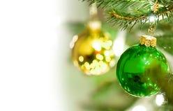 De ballendecoratie van Kerstmis Royalty-vrije Stock Foto's