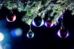 De ballendecoratie van Kerstmis Royalty-vrije Stock Afbeeldingen