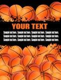 De ballenillustratie van het basketbal. Stock Afbeeldingen