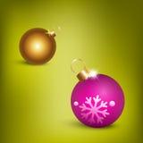 De ballenillustratie van Kerstmis Stock Foto