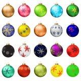 De balleninzameling van Kerstmis Royalty-vrije Stock Afbeelding