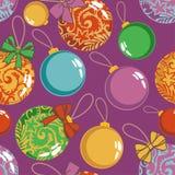 De ballenpatroon van Kerstmis vector illustratie