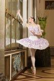 De ballerina in ballet stelt Royalty-vrije Stock Foto