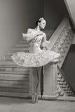 De ballerina in ballet stelt Royalty-vrije Stock Foto's