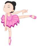 De ballerina stelt op wit Stock Foto's