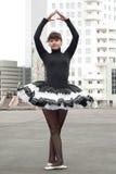 De ballerina van de straat stock afbeelding