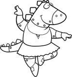 De Ballerinarobot van de beeldverhaaldinosaurus Stock Foto