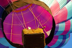De ballon stijgt tijdens Prosser, WA, het festival van de hete luchtballon Royalty-vrije Stock Afbeeldingen