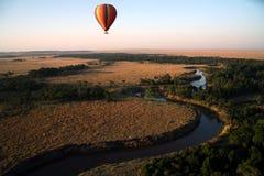 De Ballon van de hete Lucht (Kenia) Stock Afbeelding