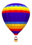 De Ballon van de hete Lucht op Wit Royalty-vrije Stock Afbeeldingen