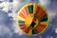 De Ballon van de hete Lucht van onderaan stock foto
