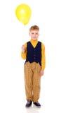 de ballon van de jongensholding stock afbeelding