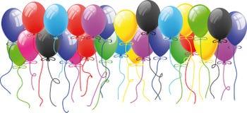 De ballon van de kleur in de lucht Royalty-vrije Stock Afbeelding
