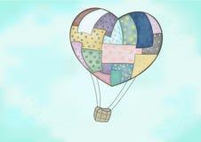 De ballon van het hart Royalty-vrije Stock Foto