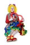 De Ballon van het Hart van de Holding van de clown Royalty-vrije Stock Fotografie