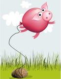 De ballon van het roze-varken Stock Foto
