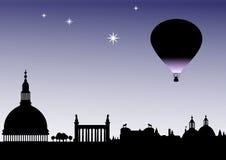De Ballon van het silhouet Royalty-vrije Stock Fotografie