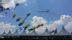 De ballon van de wereldlucht toont stock afbeelding