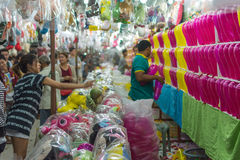 De ballon werpt spel in een tempelfestival Carnaval Royalty-vrije Stock Afbeeldingen