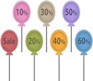 De ballonetiketten van de verkoop Royalty-vrije Stock Foto