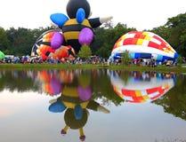 De Ballonfestival van Centraliaillinois stock fotografie