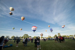 De Ballonfestival van de Temecula Hete Lucht Royalty-vrije Stock Afbeeldingen