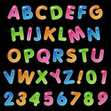 De Balloninzameling van de alfabetverjaardag Stock Foto's