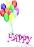 De ballons brengen geluk vector illustratie