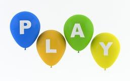 De ballons die van de partij Spel spellen Stock Afbeeldingen