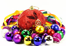De ballons en de linten van de kleur Royalty-vrije Stock Foto's